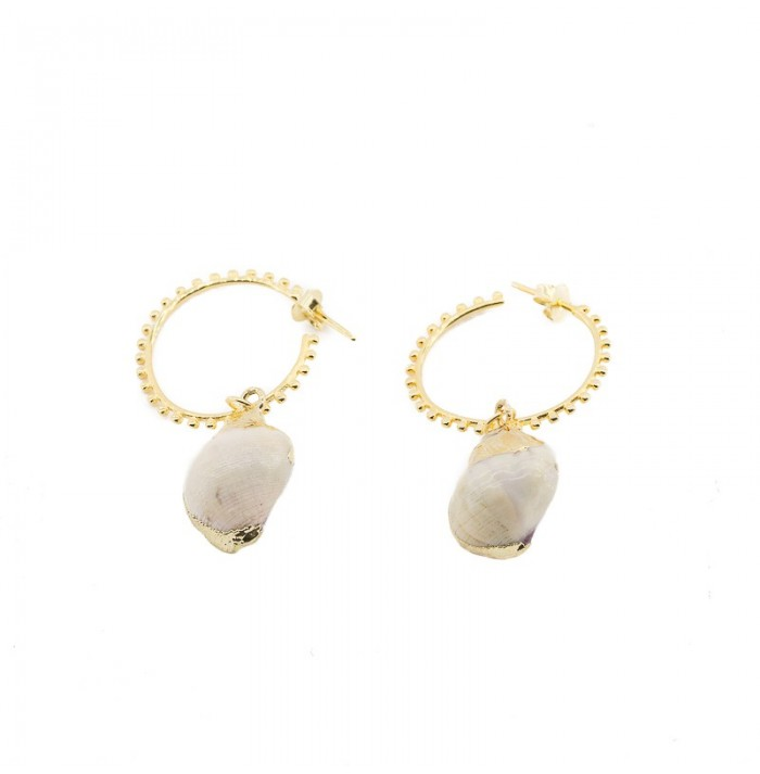 PENDIENTES MAR DE CRISTAL GOLD BY HELLEN