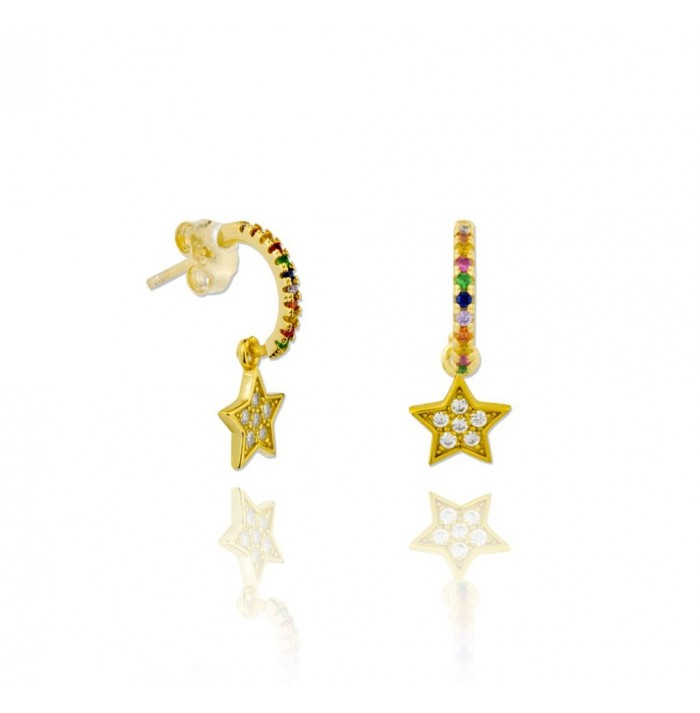 PENDIENTES RAINS OF STAR GOLD