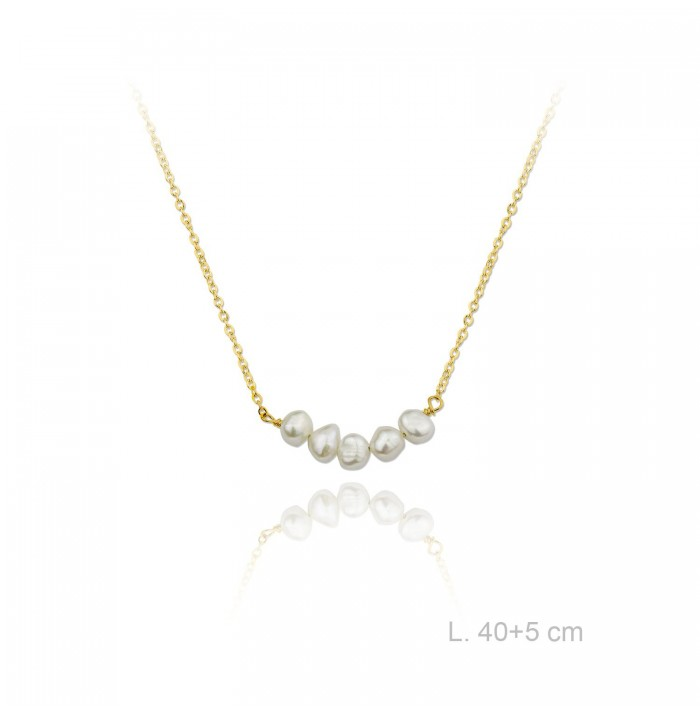 COLLAR CHIC PEARL GOLD
