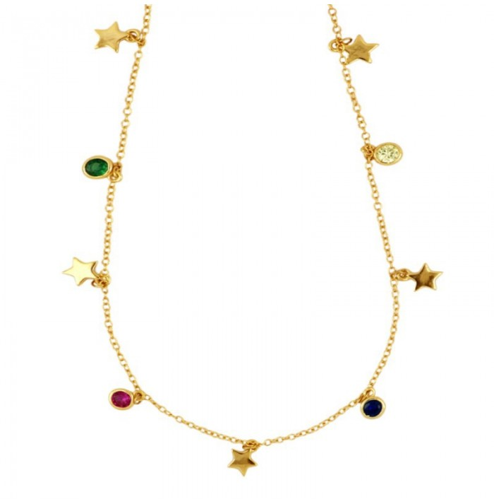 COLLAR COLOUR STAR GOLD