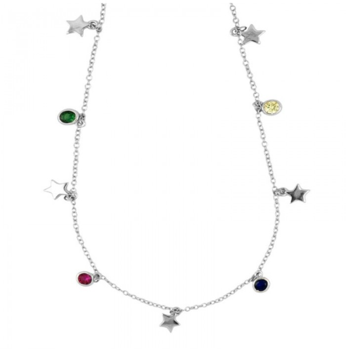 COLLAR COLOUR STAR SILVER
