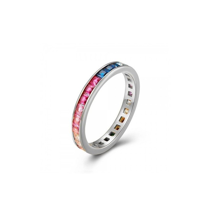 ANILLO RAIN OF COLORS SILVER