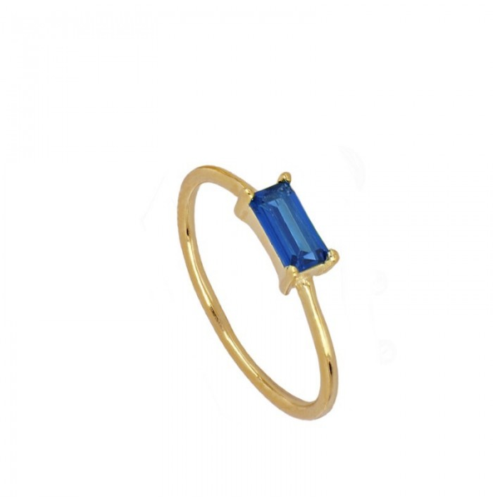 ANILLO KEITY BLUE GOLD