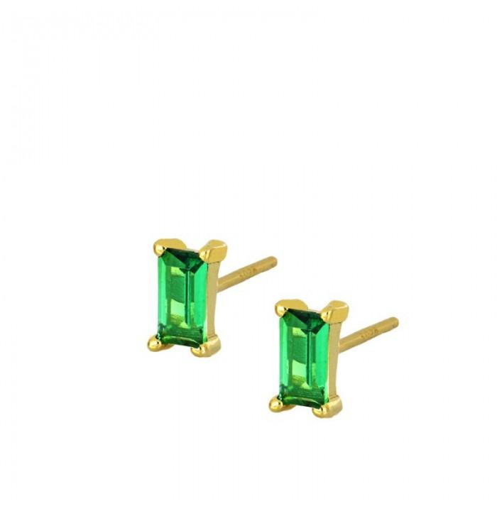 PENDIENTES MIMO GREEN GOLD