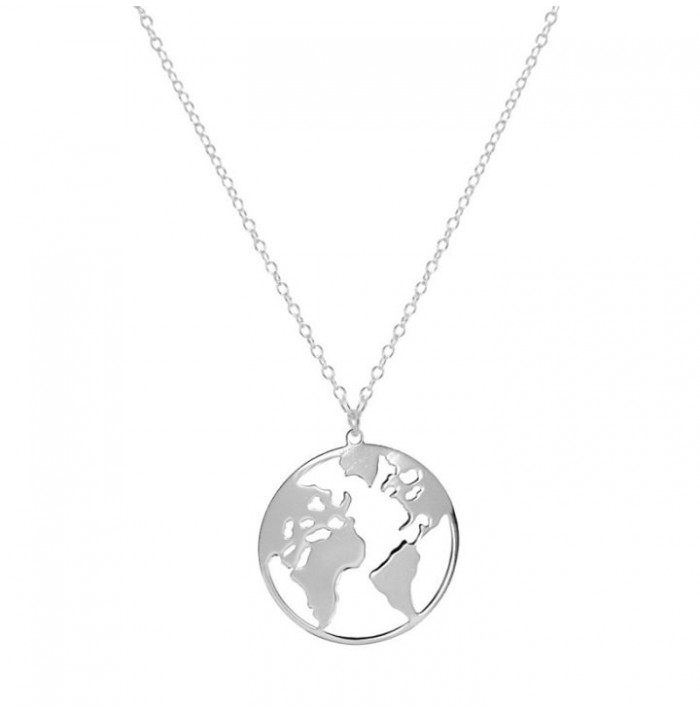 COLLAR BIG WORLD SILVER