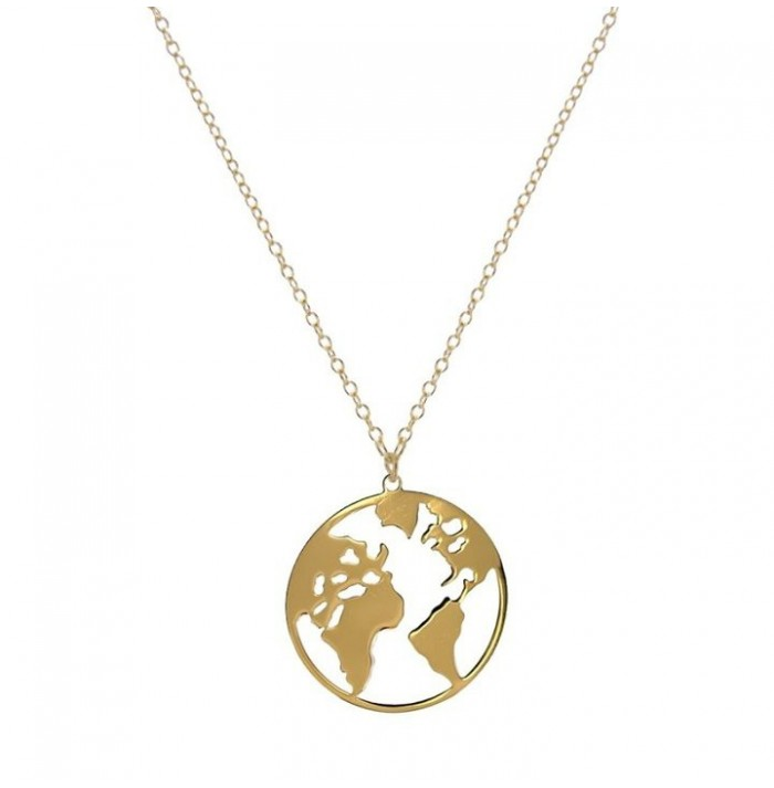 COLLAR BIG WORLD GOLD