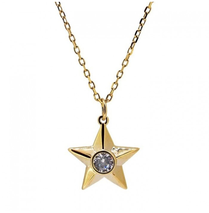 COLLAR STAR SHINE GOLD
