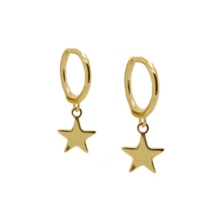 PENDIENTES SIMPLY STAR GOLD