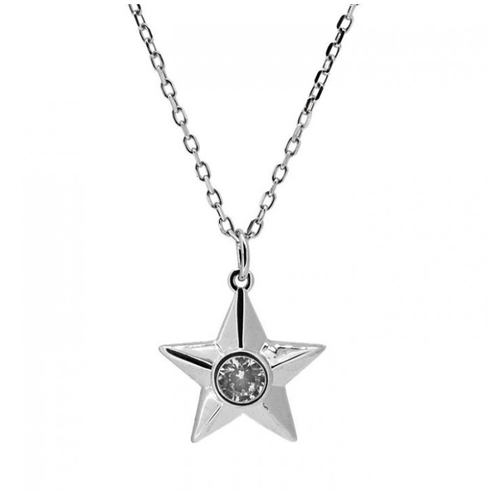 COLLAR STAR SHINE SILVER