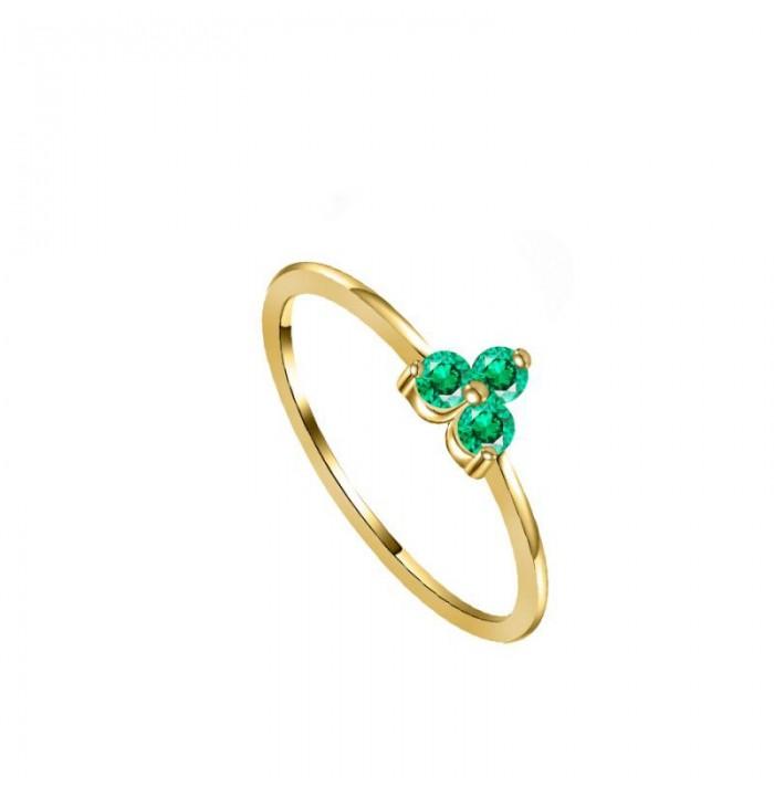 ANILLO ANALA GREEN GOLD