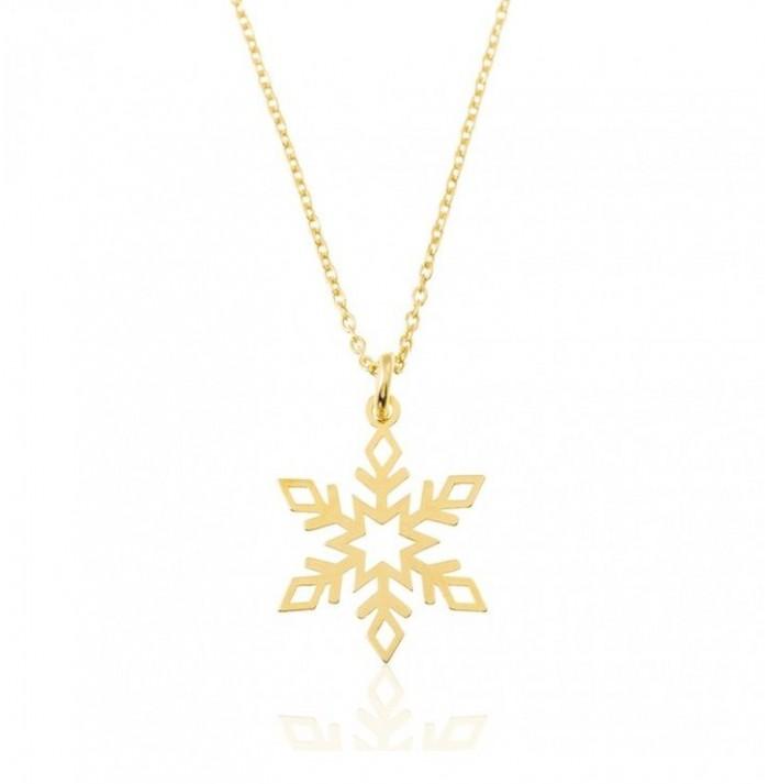COLLAR SNOWFLAKE  GOLD