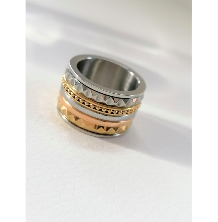 ANILLO JAZZ OF COLORS GOLD & SILVER