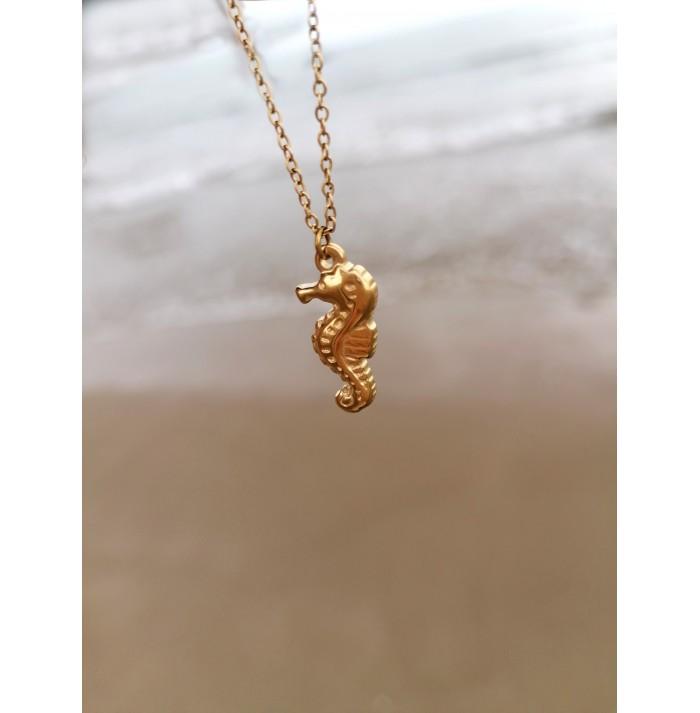 COLLAR CHIC MARINE HORSE GOLD