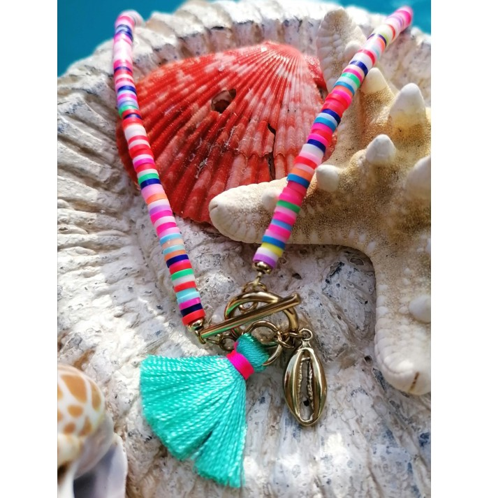 COLLAR  SEA OF COLORS GOLD