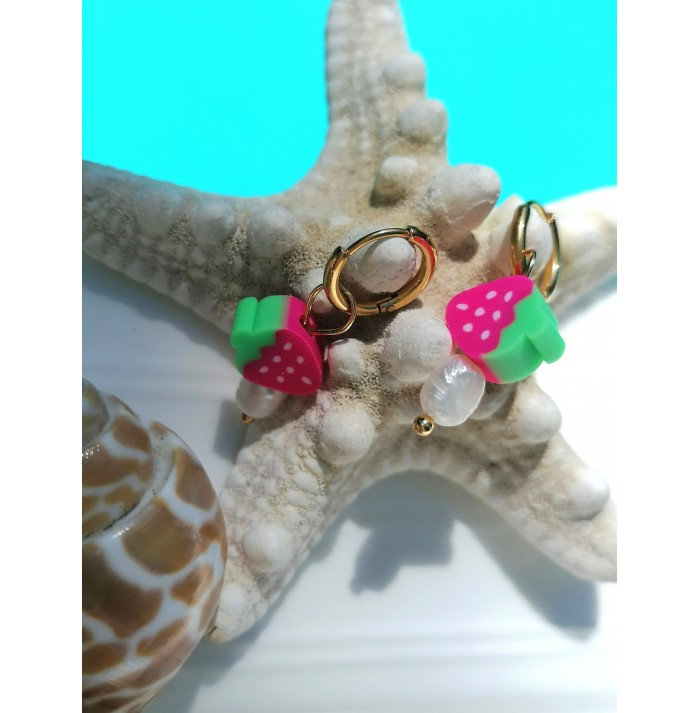PENDIENTES CHIC STRAWBERRY GOLD