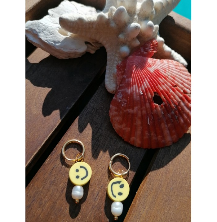 PENDIENTES CHIC SMILE YELLOW GOLD