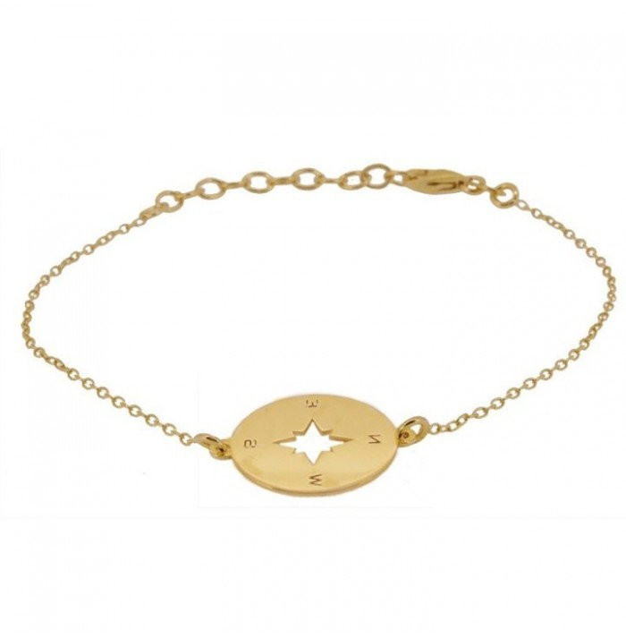 PULSERA COMPASS ROSE GOLD