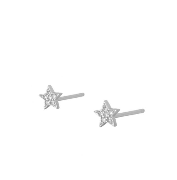 PENDIENTES ROCK STAR SILVER