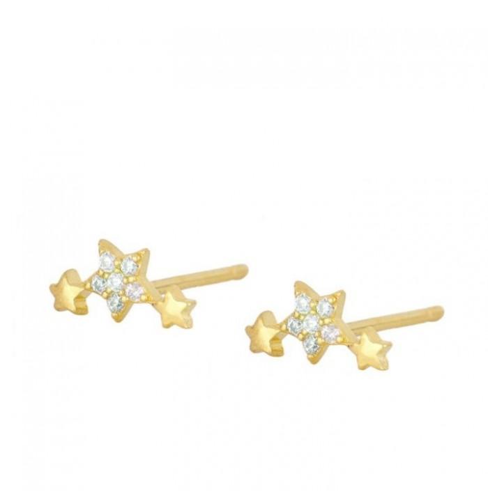 PENDIENTES SUPER STAR GOLD