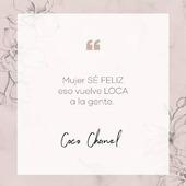"""""""Que tu felicidad sólo dependa de tí y no de nadie"""". . . .   #SoyAlmaBohemia #chanel #moda #cocochanel #phrases #phrasesoftheday #instaphrases #quotes #spain #madrid #jewels #jewelry #joyas #powerwoman  #motivation #love#mujerespaña #mujeresvalientes #diseñosdejoyas #frasesparacompartir #frasesparareflexionar #mujeremprendedora #mujersegura"""
